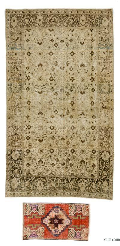"Turkish Vintage Area Rug - 4'2"" x 6'8"" (50 in. x 80 in.)"