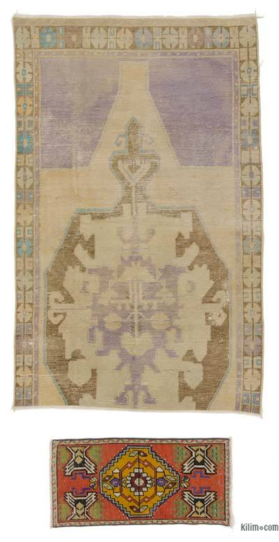 "Turkish Vintage Area Rug - 4'4"" x 6'10"" (52 in. x 82 in.)"