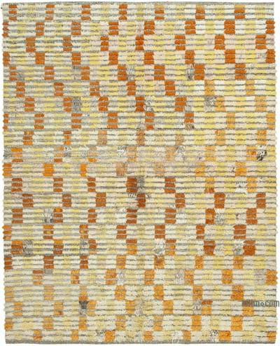 New Contemporary Hand-Knotted Wool Rug