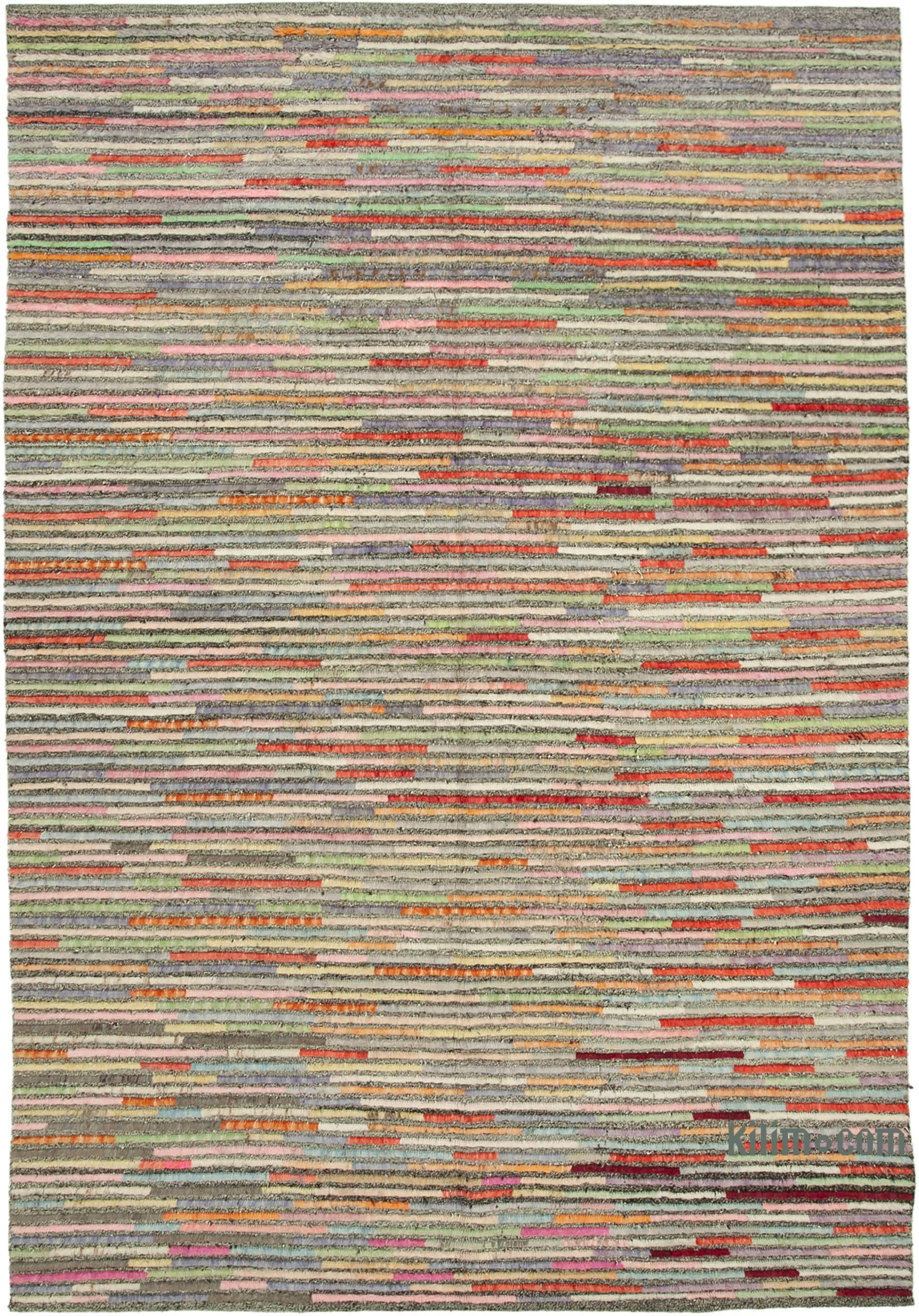 4aeb439700 K0037111 Multicolor New Contemporary Hand-Knotted Wool Rug   Kilim.com: The  Source for Authentic Vintage Rugs, Kilims, Overdyed Oriental Rugs, ...