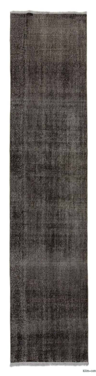Over-dyed Turkish Vintage Runner - 2'10'' x 12'9'' (34 in. x 153 in.)