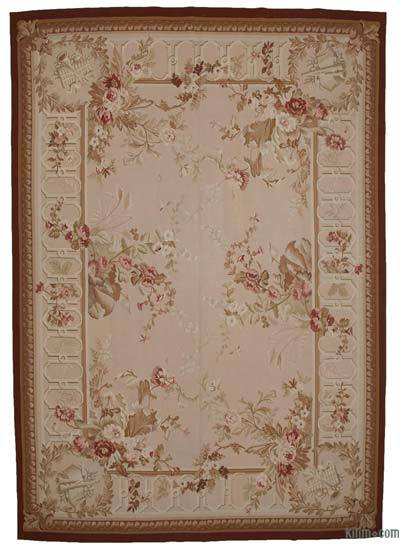 Aubusson Rug - 9'10'' x 14'1'' (118 in. x 169 in.)