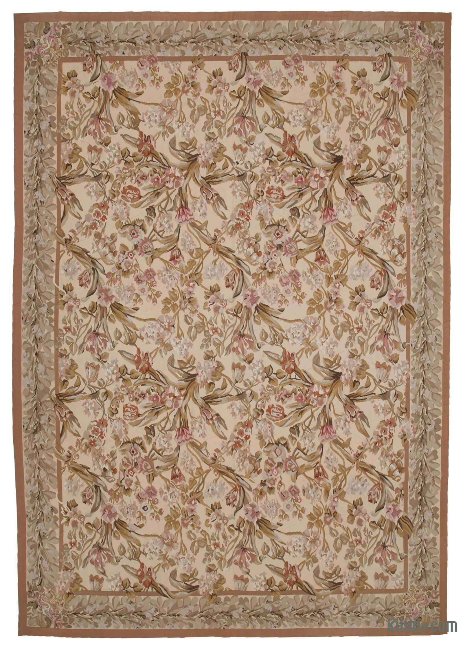 Yellow Aubusson Rug 9 11 X 14 3 119 In X 171 In