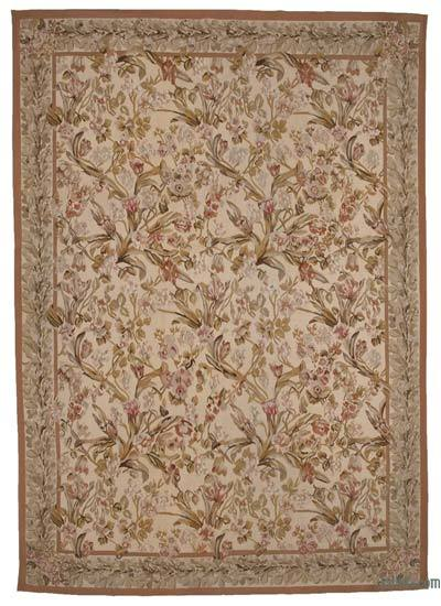 Aubusson Rug - 10' x 14'1'' (120 in. x 169 in.)
