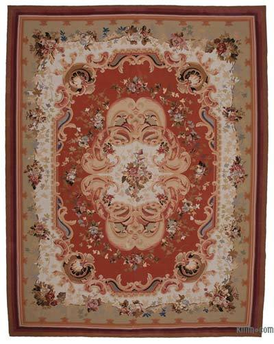 Aubusson Rug - 10'4'' x 13'5'' (124 in. x 161 in.)
