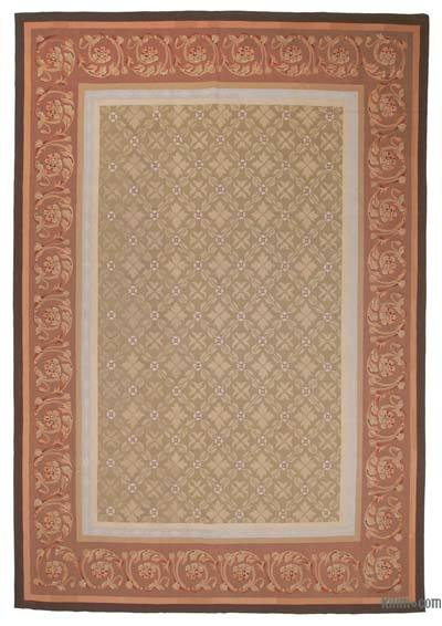 Aubusson Rug - 9'6'' x 13'10'' (114 in. x 166 in.)