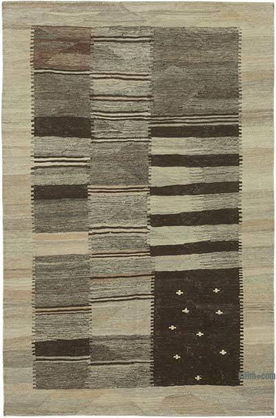 New Contemporary Kilim Rug - Z Collection - 4'1'' x 6'4'' (49 in. x 76 in.)
