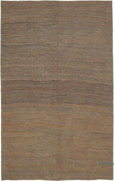 Brown New Contemporary Kilim Rug - Z Collection - 6'4'' x 10' (76 in. x 120 in.)