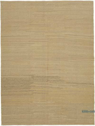 Beige New Contemporary Kilim Rug - Z Collection - 7' x 9'3'' (84 in. x 111 in.)