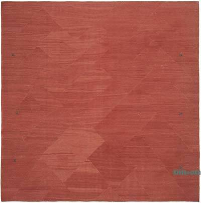 Red New Contemporary Kilim Rug - Z Collection - 8'4'' x 8'6'' (100 in. x 102 in.)