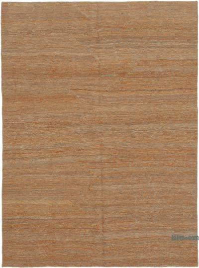 Brown New Contemporary Kilim Rug - Z Collection - 4'10'' x 6'8'' (58 in. x 80 in.)