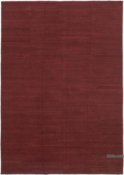 Red New Contemporary Kilim Rug - Z Collection - 7' x 9'11'' (84 in. x 119 in.)