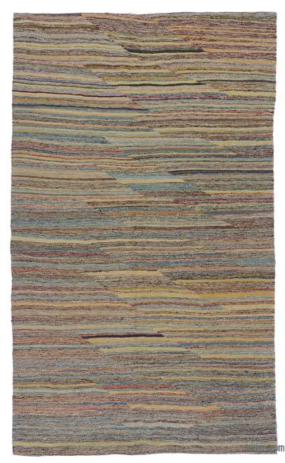 Multicolor New Contemporary Kilim Rug - Z Collection - 4'10'' x 8' (58 in. x 96 in.)