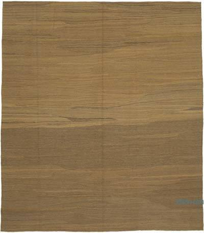 Brown New Contemporary Kilim Rug - Z Collection - 8'5'' x 9'6'' (101 in. x 114 in.)