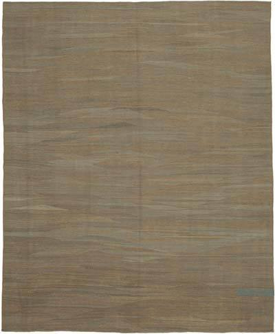 Brown New Contemporary Kilim Rug - Z Collection - 7'11'' x 9'6'' (95 in. x 114 in.)