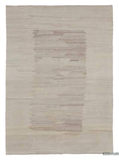 Beige New Contemporary Kilim Rug - Z Collection - 5'10'' x 8'2'' (70 in. x 98 in.)