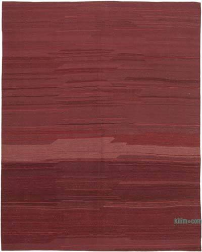 Red New Contemporary Kilim Rug - Z Collection - 7'7'' x 9'7'' (91 in. x 115 in.)