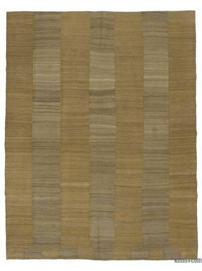 Brown New Contemporary Kilim Rug - Z Collection - 7'1'' x 9'1'' (85 in. x 109 in.)