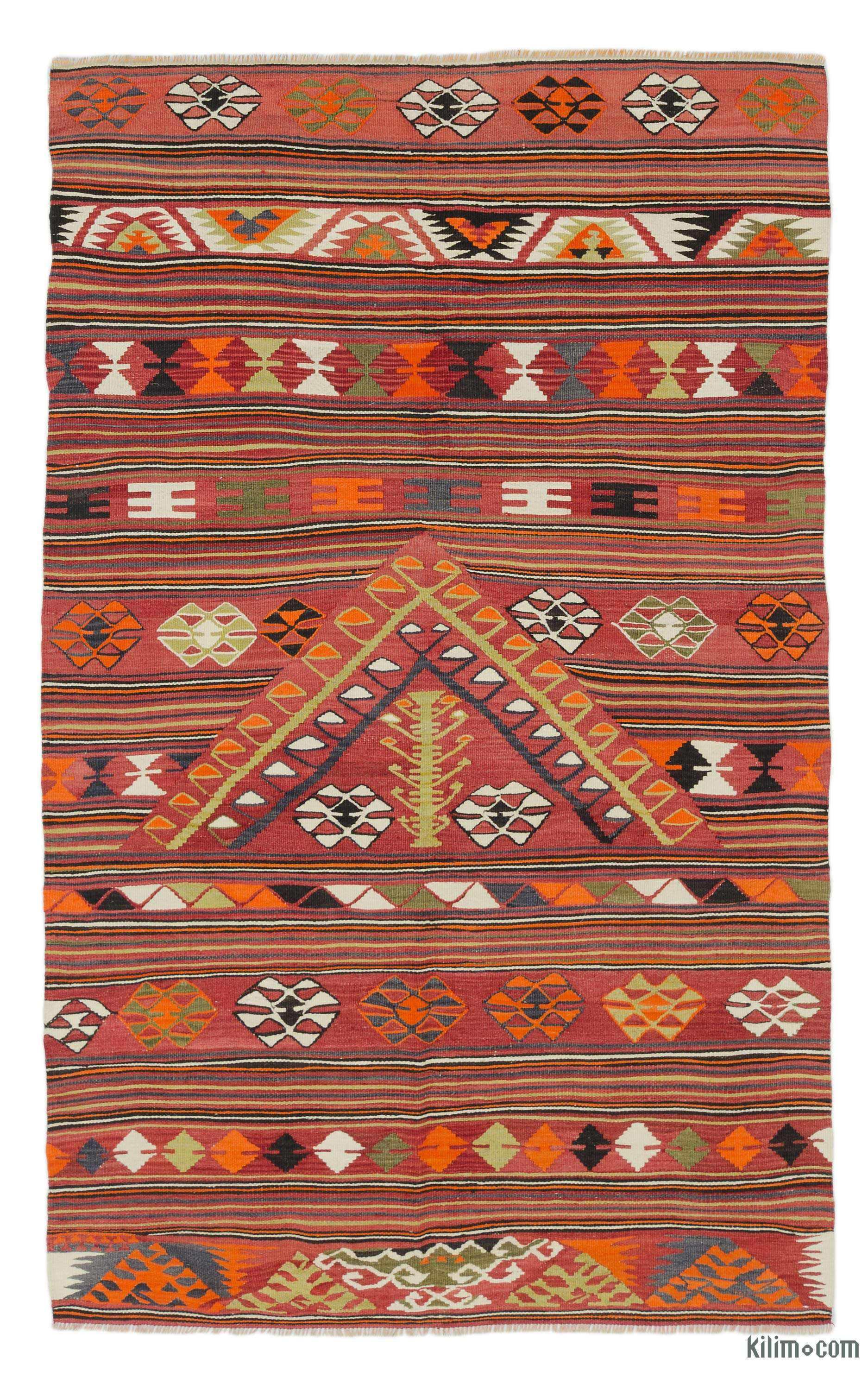 0e0128c37 K0037842 Multicolor Vintage Konya Kilim Rug   Kilim.com: The Source for  Authentic Vintage Rugs, Kilims, Overdyed Oriental Rugs, Hand-woven Turkish  Rugs, ...