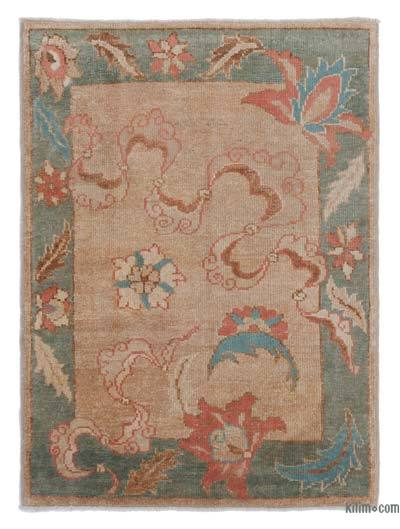 Beige New Hand Knotted Anatolian Rug - 2'11'' x 3'11'' (35 in. x 47 in.)