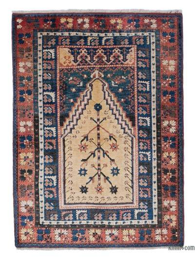 New Hand Knotted Anatolian Rug - 3'7'' x 4'11'' (43 in. x 59 in.)