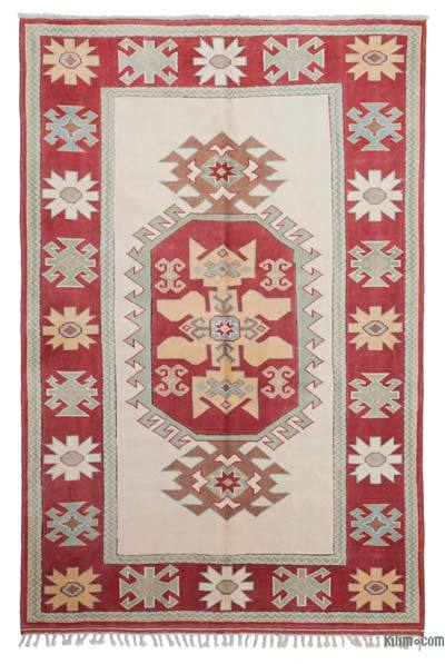 New Hand Knotted Anatolian Rug - 5'6'' x 8'2'' (66 in. x 98 in.)