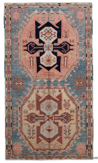 New Hand Knotted Anatolian Rug - 4'3'' x 7'5'' (51 in. x 89 in.)