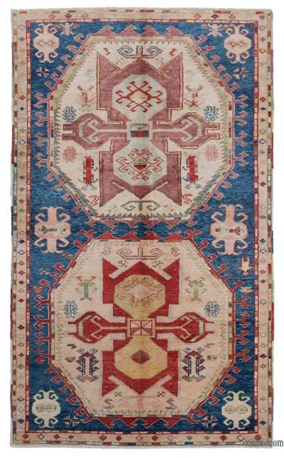 "New Hand Knotted Anatolian Rug - 4'2"" x 7' (50 in. x 84 in.)"