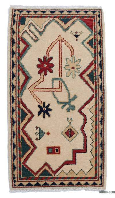 "New Hand Knotted Anatolian Runner Rug - 2'2"" x 3'11"" (26 in. x 47 in.)"
