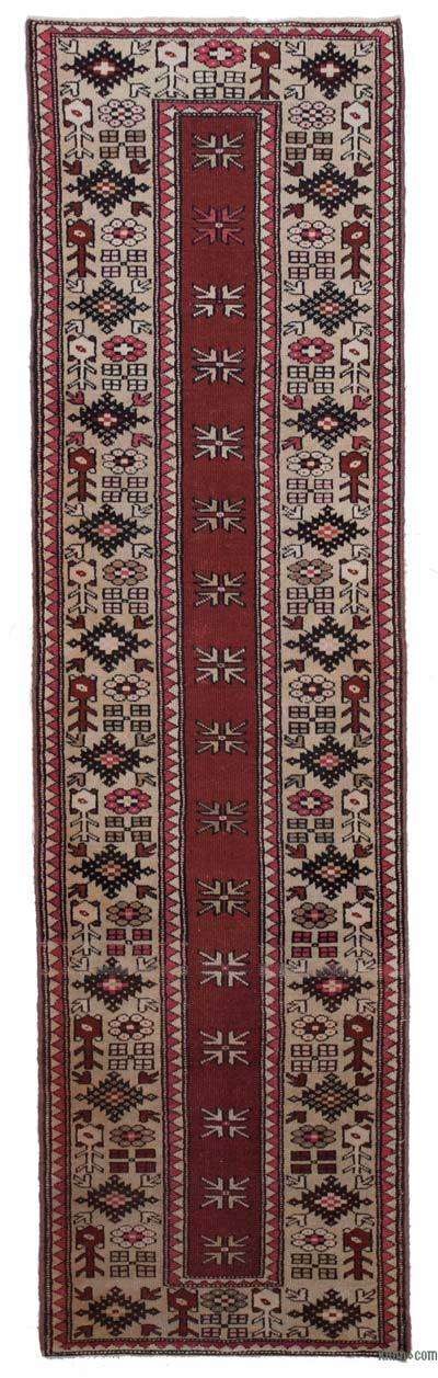 "New Hand Knotted Anatolian Runner Rug - 2'7"" x 9'3"" (31 in. x 111 in.)"