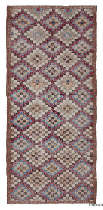 "Turkish Vintage Rug - 4'1"" x 9'2"" (49 in. x 110 in.)"
