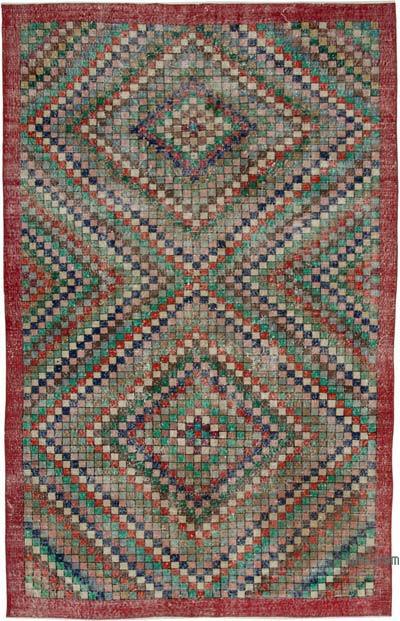 Turkish Vintage Rug - 6'1'' x 9'8'' (73 in. x 116 in.)