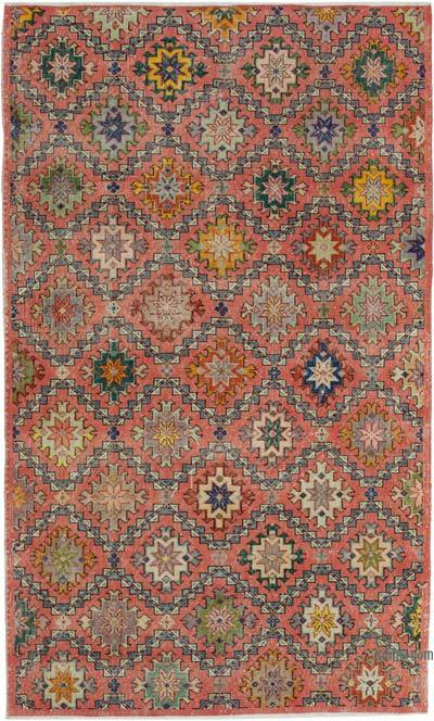 Turkish Vintage Rug - 4'10'' x 8'2'' (58 in. x 98 in.)