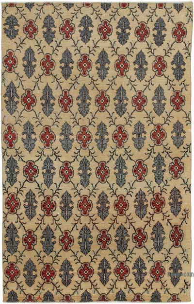 Turkish Vintage Rug - 4'10'' x 7'8'' (58 in. x 92 in.)