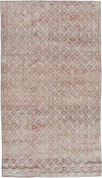 Multicolor, Red Turkish Vintage Rug - 4'5'' x 7'11'' (53 in. x 95 in.)