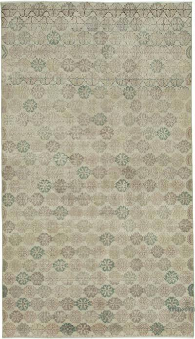 Beige Turkish Vintage Rug - 5'6'' x 9'4'' (66 in. x 112 in.)