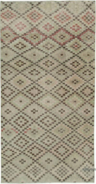 Beige Turkish Vintage Rug - 4'2'' x 8'6'' (50 in. x 102 in.)