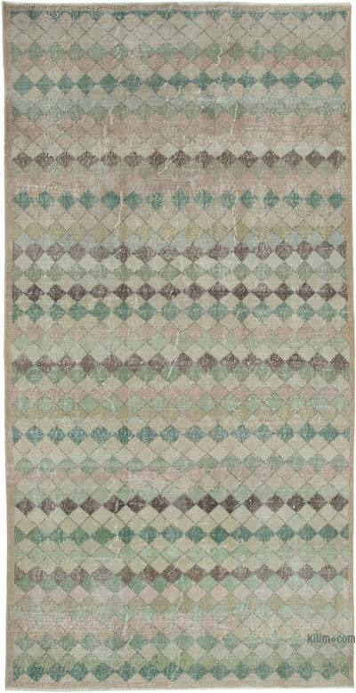 Multicolor Turkish Vintage Rug - 4'10'' x 9'3'' (58 in. x 111 in.)