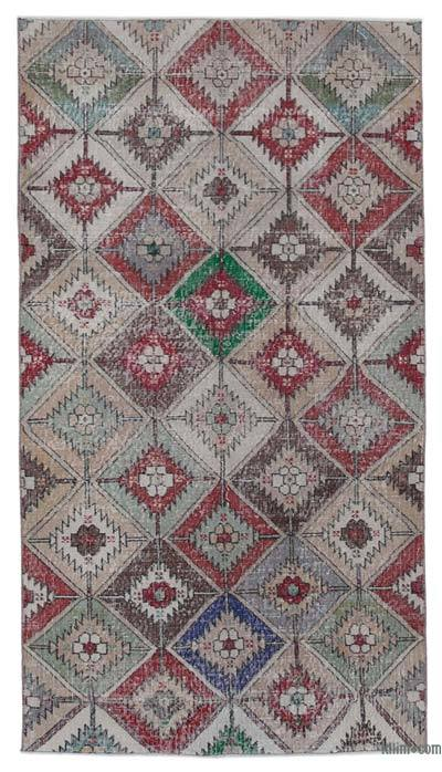 Multicolor Turkish Vintage Rug - 3'10'' x 7' (46 in. x 84 in.)