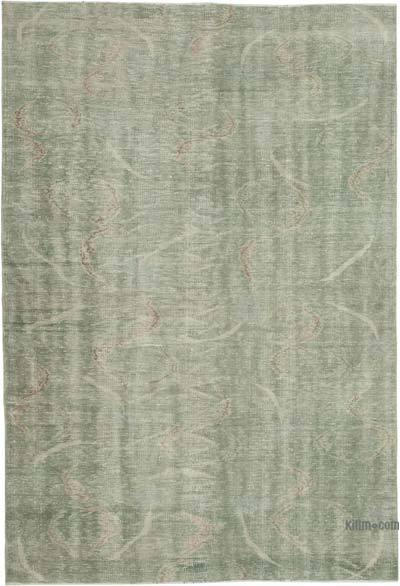 Green Turkish Vintage Rug - 6' x 8'10'' (72 in. x 106 in.)