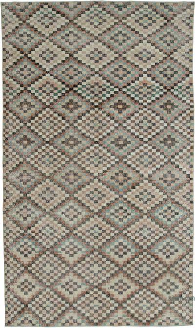 Multicolor Turkish Vintage Rug - 6'3'' x 10'8'' (75 in. x 128 in.)