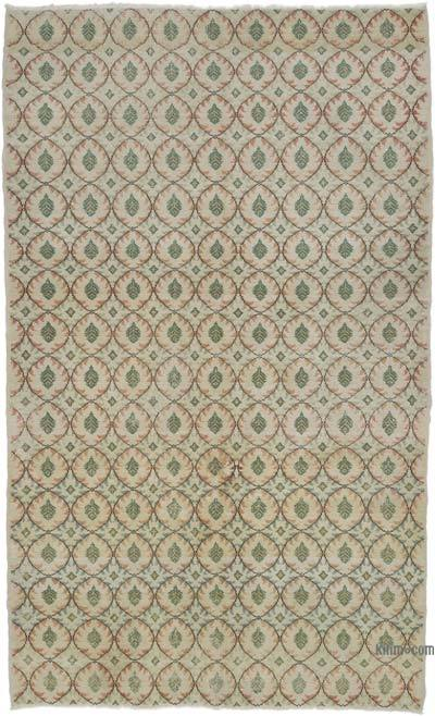 Multicolor, Green Turkish Vintage Rug - 5'10'' x 9'6'' (70 in. x 114 in.)
