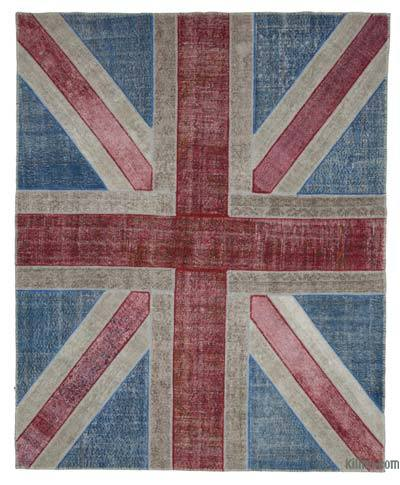 "Patchwork British Flag Rug - 8'2"" x 10'1"" (98 in. x 121 in.)"