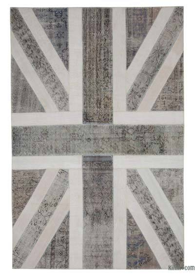 "Patchwork British Flag Rug - 6'7"" x 10' (79 in. x 120 in.)"