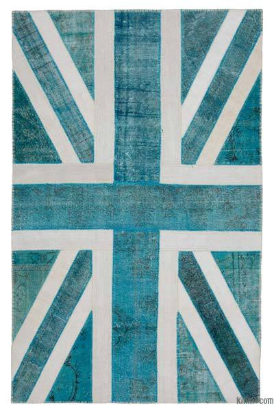 "Patchwork British Flag Rug - 6'4"" x 9'11"" (76 in. x 119 in.)"