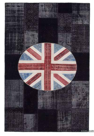 Patchwork British Flag Rug - 6'6'' x 10' (78 in. x 120 in.)