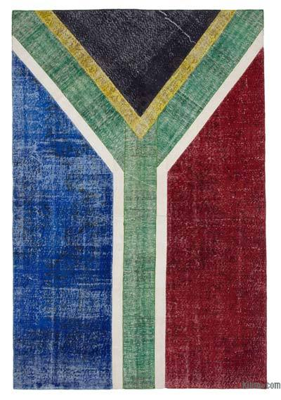 "Patchwork South Africa Flag Rug - 6'6"" x 9'9"" (78 in. x 117 in.)"