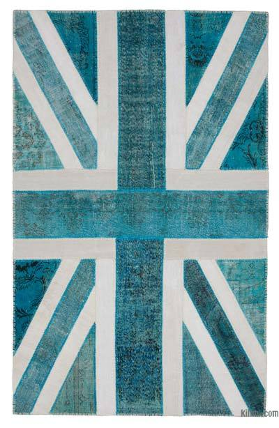 Patchwork British Flag Rug - 6'3'' x 9'11'' (75 in. x 119 in.)