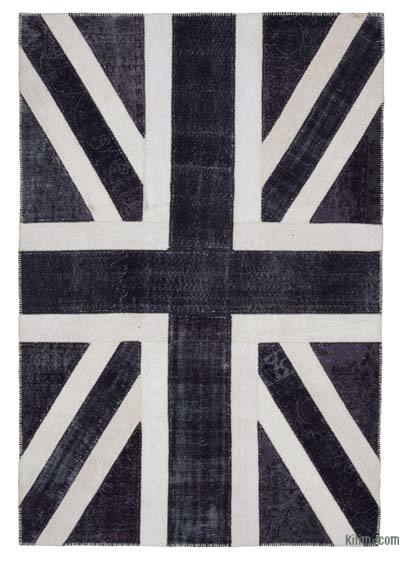 Patchwork British Flag Rug - 6'9'' x 9'10'' (81 in. x 118 in.)