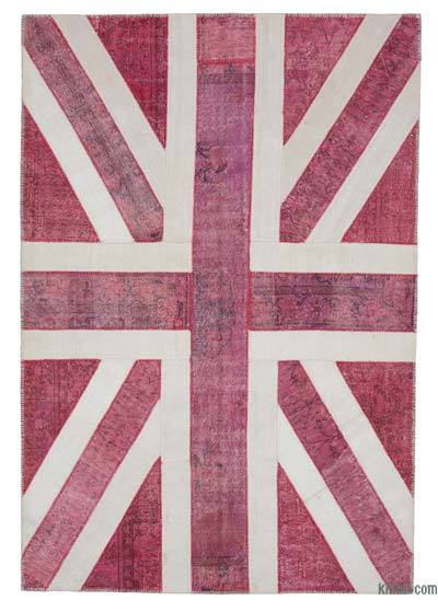 Patchwork British Flag Rug - 6'9'' x 9'11'' (81 in. x 119 in.)